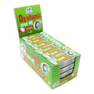 1x1 Vitamin D3-vitamin 2000NE kocka szőlőcukor lime ízű - 14db