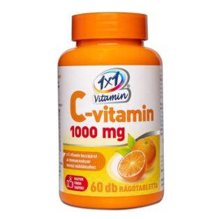 1x1 Vitamin C-vitamin 1000mg narancs ízű rágótabletta - 60db