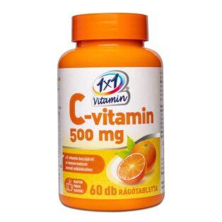 1x1 Vitamin C-vitamin 500 mg narancs ízű rágótabletta - 60db