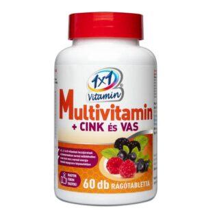 1x1 Vitamin Multi + Cink + Vas rágótabletta - 60db