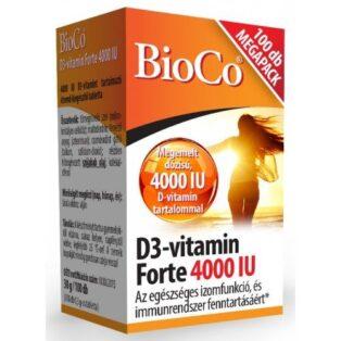 BioCo D3-vitamin Forte 4000 IU tabletta - 100db