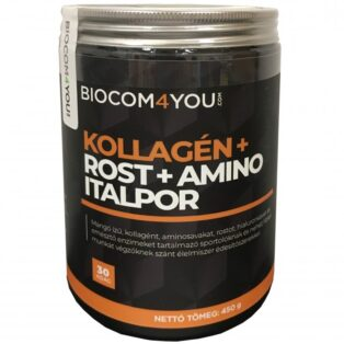 Biocom Kollagén+Rost+Amino mangó ízű italpor - 450g