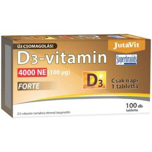 JutaVit D3-vitamin Forte 4000NE tabletta - 100 db