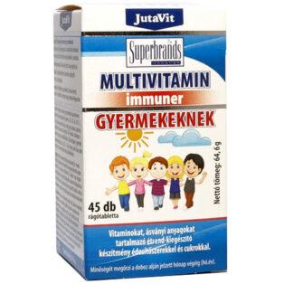 JutaVit Multivitamin Immuner gyerekeknek rágótabletta - 45db