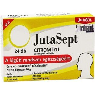 JutaVit Jutasept citrom ízű szopogató tabletta - 24 db