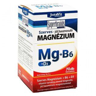 JutaVit Szerves Magnézium-B6+D3-vitamin filmtabletta - 70 db