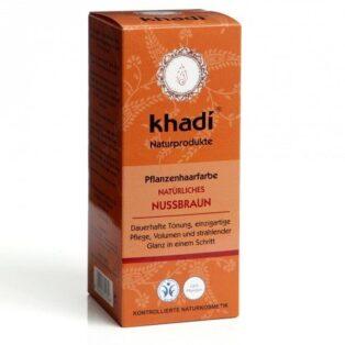 Khadi Hajfesték por - mogyoróbarna - 100g