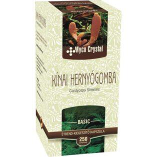 Myco Crystal Kínai hernyógomba - Cordyceps  gyógygomba - 250 db kapszula