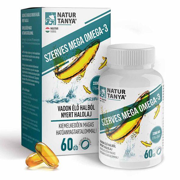 Natur Tanya Mega Omega-3 - vadvízi halolaj, extra EPA és DHA tartalommal