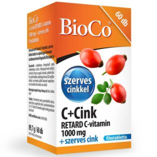 BioCo C+Cink Retard C-vitamin 1000mg + szerves Cink filmtabletta - 60db