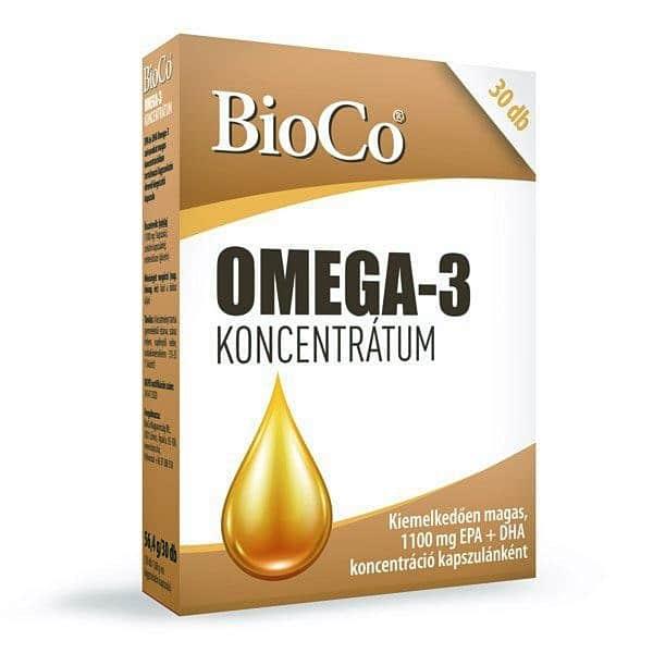 BioCo Omega-3 koncentrátum kapszula - 30db