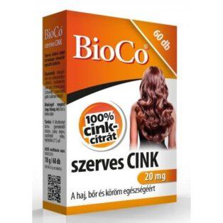 BioCo Szerves cink 20mg - 60db