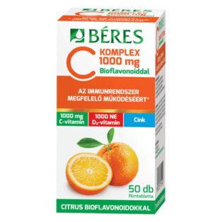 Béres C Komplex C-vitamin 1000mg + D3+Cink filmtabletta – 50db