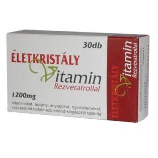 Életkristály vitamin rezveratrollal - 30db