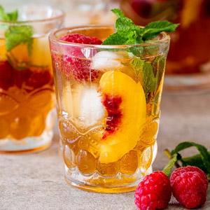 Gyümölcs tea filteres