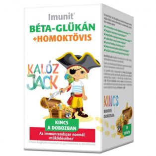 Imunit Kalóz Jack Béta-glükán és homoktövis tartalmú  tabletta - 30db
