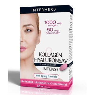 Interherb Kollagén Hyaluronsav Intense tabletta - 30db