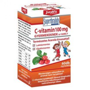 JutaVit C-vitamin 100 mg rágótabletta gyerekeknek - 60 db