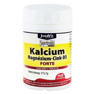 JutaVit Kalcium-Magnézium-Cink-D3-vitamin Forte tabletta - 90 db