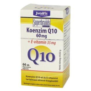 JutaVit Koenzim Q10 60mg + E-vitamin kapszula - 66 db