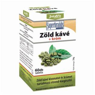 JutaVit zöldkávé+króm tabletta - 60 db