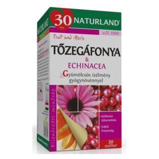 Naturland Tőzegáfonya-echinacea gyümölcstea - 20 filter