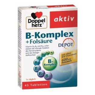 Doppelherz B-komplex + Folsav tabletta - 45db