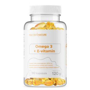 Nutri Nature Omega-3 + E-vitamin kapszula - 90db