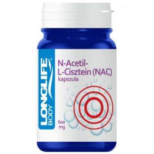 Longlife N-Acetil-L-Cisztein (NAC) immunrendszer erősítő kapszula - 60db